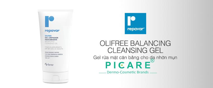 Gel rửa mặt cân bằng da Repavar Olifree Balancing Cleansing Gel 150ml