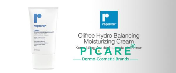 Kem dưỡng ẩm cân bằng cho da nhờn mụn Repavar OilFree Hydro Balancing Moisturizing Cream 50ml