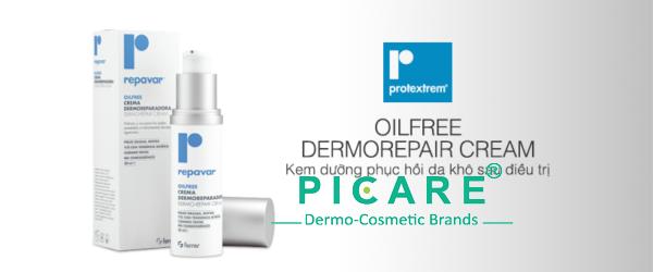 Kem dưỡng phục hồi da khô sau điều trị mụn Repavar Oilfree Dermorepair Cream 30ml